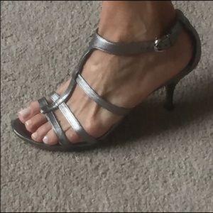 Coach Silver Kitten Heels
